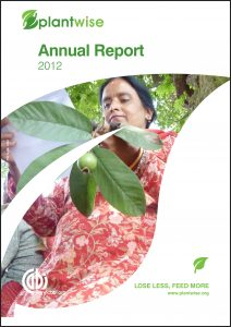 Plantwise Annual Report 2012 cover