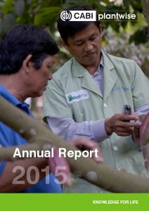 Plantwise Annual Report 2015 cover