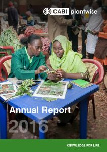 Plantwise Annual Report 2016 cover